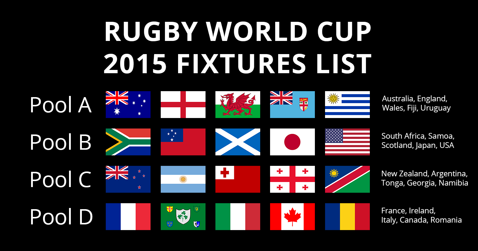 Rugby World Cup 2015 Fixtures | Autumn Internationals