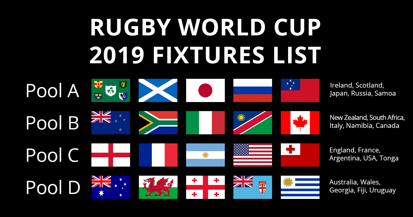 image regarding World Cup Printable Schedule known as Rugby Environment Cup 2019 Fixtures Autumn Internationals