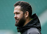 Andy Farrell during captains run at Twickenham for England v Ireland match