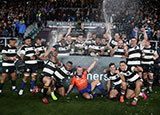 Barbarians celebrate victory over Argentina at Twickenham in Killik Cup match