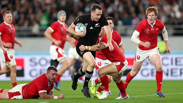 Ben Smith scores a try for New Zealand v Wales in World Cup bronze medal match