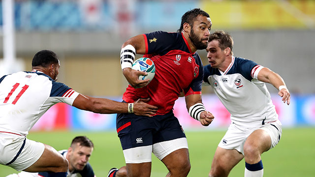 Billy Vunipola in action for England v USA at World Cup