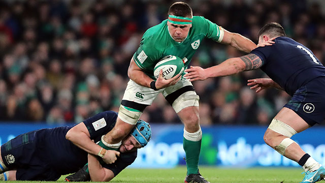CJ Stander in action for Ireland v Scotland in 2020 Six Nations