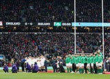 England and Ireland line up at Twickenham during 2018 Six Nations