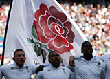 England players sing national anthem at Twickenham