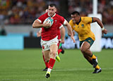 Gareth Davies in action for Wales v Australia at World Cup