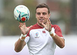 George Ford in training with England ahead of World Cup semi final against All Blacks