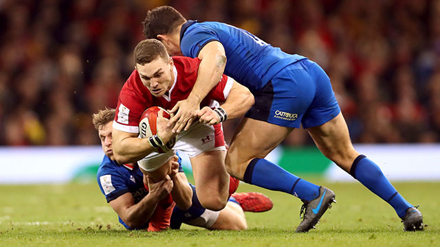 George North in action for Wales v Italy in 2020 Six Nations