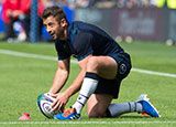 Greig Laidlaw in action for Scotland v France in World Cup warm up match