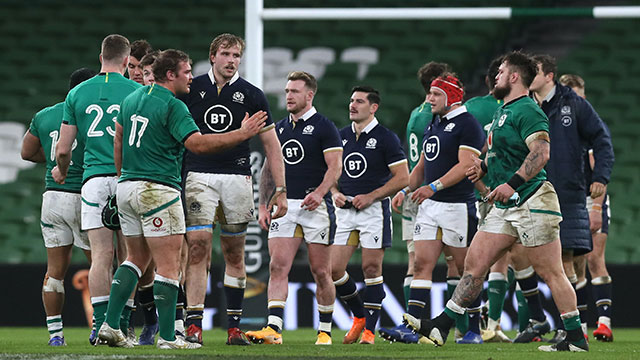 Ireland and Scotland met in the 3rd place play off during 2020 Autumn Nations Cup