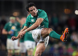 Joey Carbery kicking for Ireland