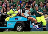 Joey Carbery was injured during the Ireland v Italy match