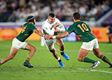 Jonny May in action for England v South AFrica in 2019 Rugby World Cup final