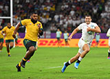 Jonny May scores England's second try against Australia in World Cup quarter final