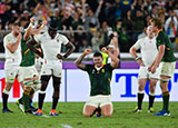 Malcolm Marx celebrates as South Africa beat England to win 2019 Rugby World Cup