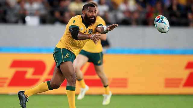 Marika Koroibete ranks highly for clean breaks made at the World Cup