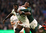 Maro Itoje in action for England v South Africa in 2018 autumn internationals