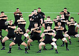 New Zealand perform Haka before facing South Africa in World Cup