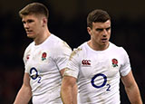 Owen Farrell and George Ford during 2017 Six Nations