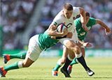 Owen Farrell in action for England against Ireland in World Cup warm-up match