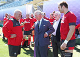 Prince of Wales visits Warren Gatland and Wales squad in Japan
