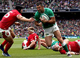 Rob Kearney scored a try for Ireland v Wales in World Cup warm up match