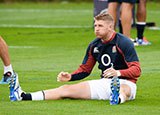 Ruaridh McConnochie during an England training session