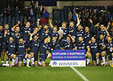 Scotland lift the Hopetoun Cup after beating Australia