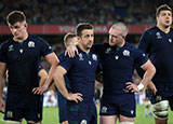 Scotland players look dejected after they lost to Japan at World Cup