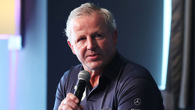 Sean Fitzpatrick speaks during a press conference