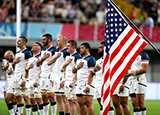 USA line up against England at 2019 Rugby World Cup