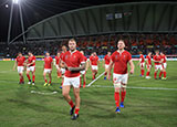 Wales players after beating Uruguay at World Cup