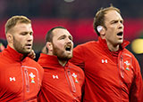 Wales players line up before match against Scotland in 2018 autumn internationals