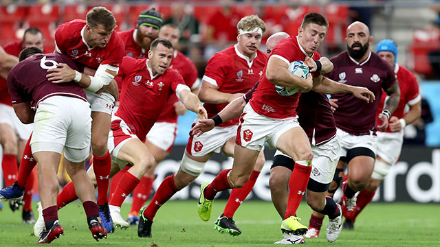 Wales take on Georgia during 2019 World Cup