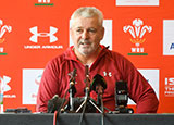 Warren Gatland at Wales training squad announcement for Rugby World Cup