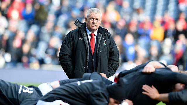 Warren Gatland before the Scotland v Wales match in 2019 Six Nations