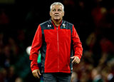 Warren Gatland before the Wales v Ireland World Cup warm up at Principality Stadium